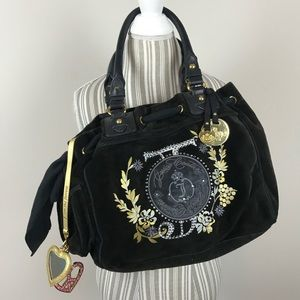 Juicy Couture Purse Bag Tote handbag Velvet